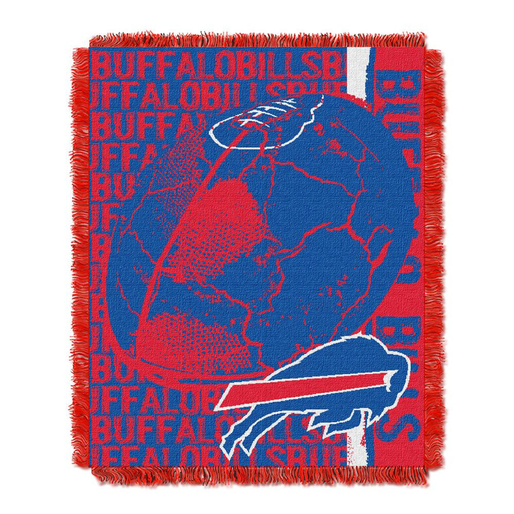 Buffalo Bills NFL Triple Woven Jacquard Throw (Double Play) (48x60)