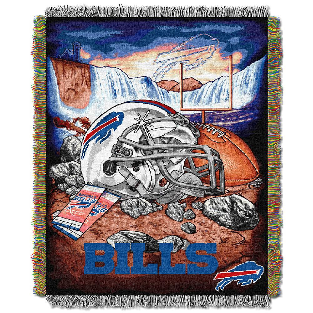 Buffalo Bills NFL Woven Tapestry Throw (Home Field Advantage) (48x60)