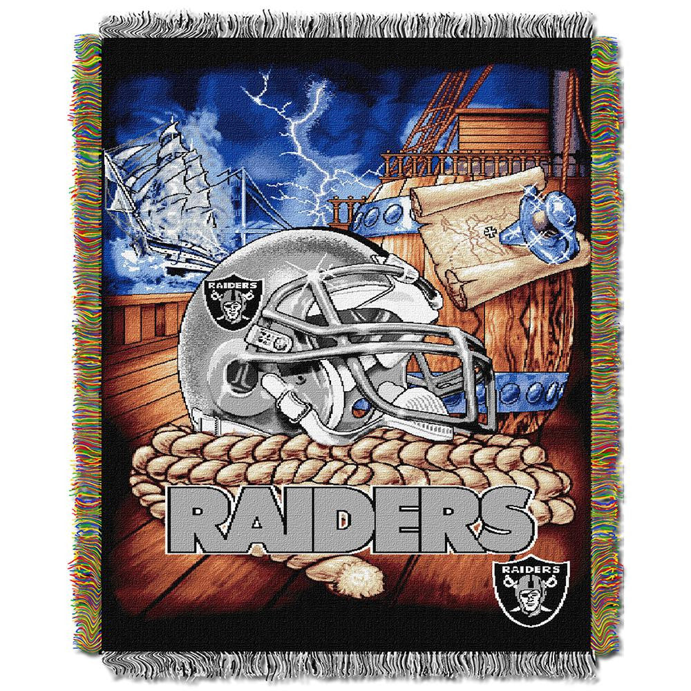Oakland Raiders NFL Woven Tapestry Throw (Home Field Advantage) (48x60)