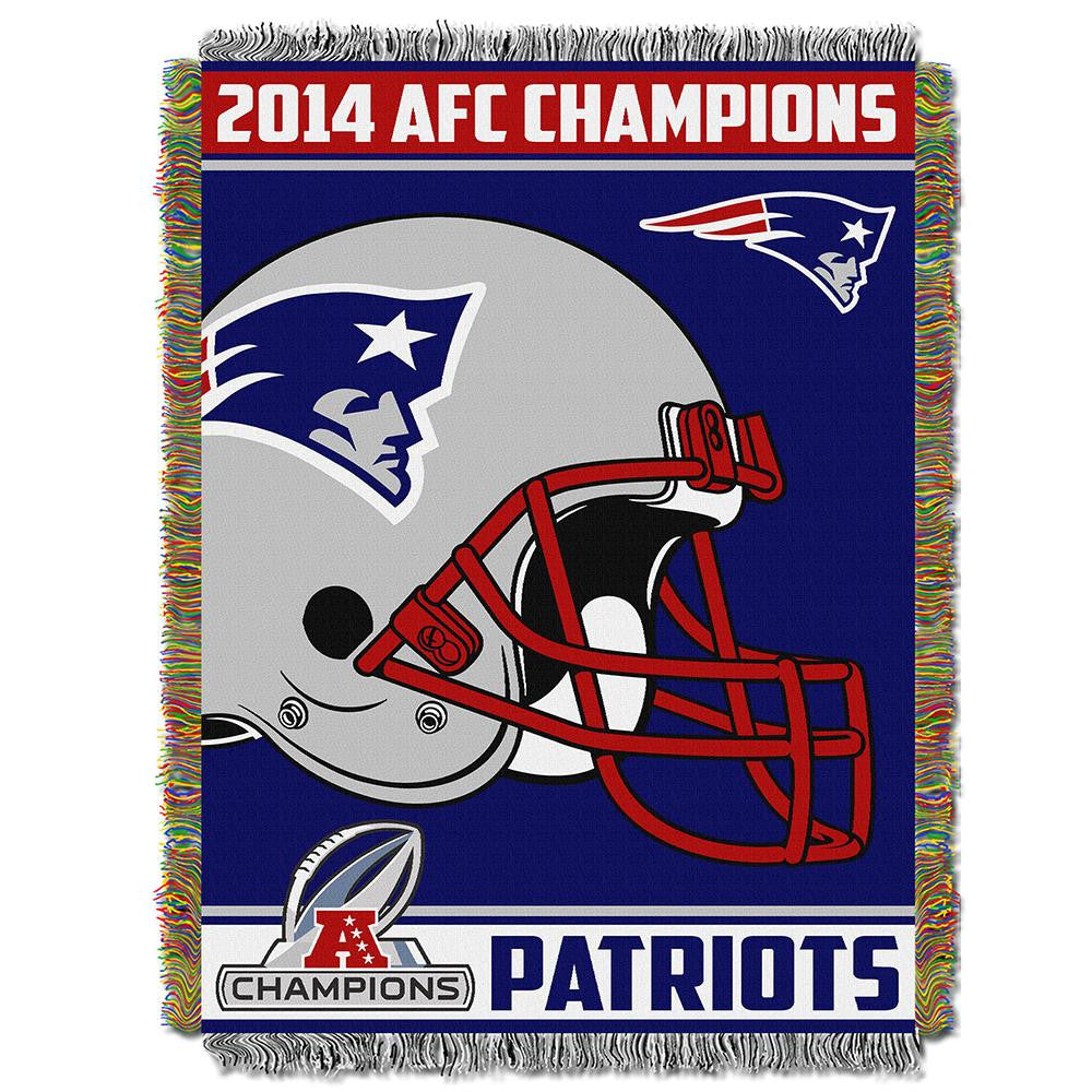 New England Patriots NFL AFC Champions  Triple Woven Tapestry Throw (48x60)