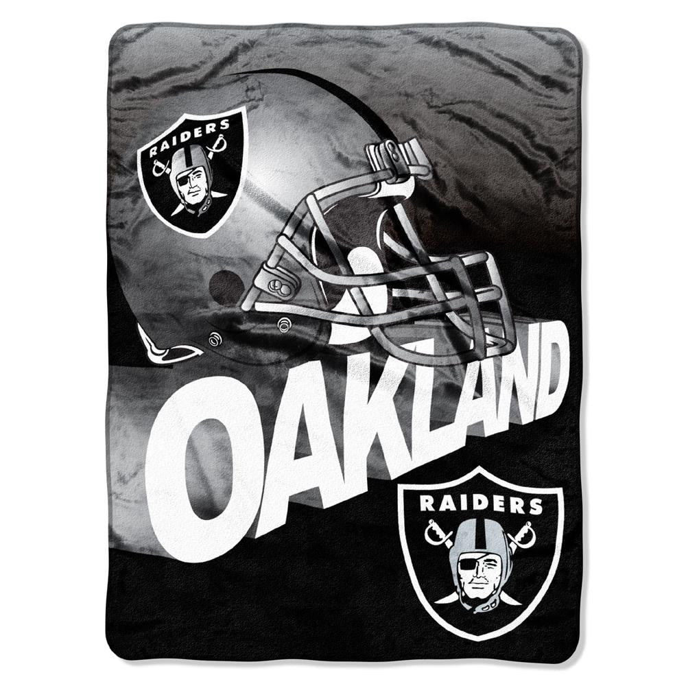 Oakland Raiders NFL Micro Raschel Blanket (Bevel Series) (80x60)