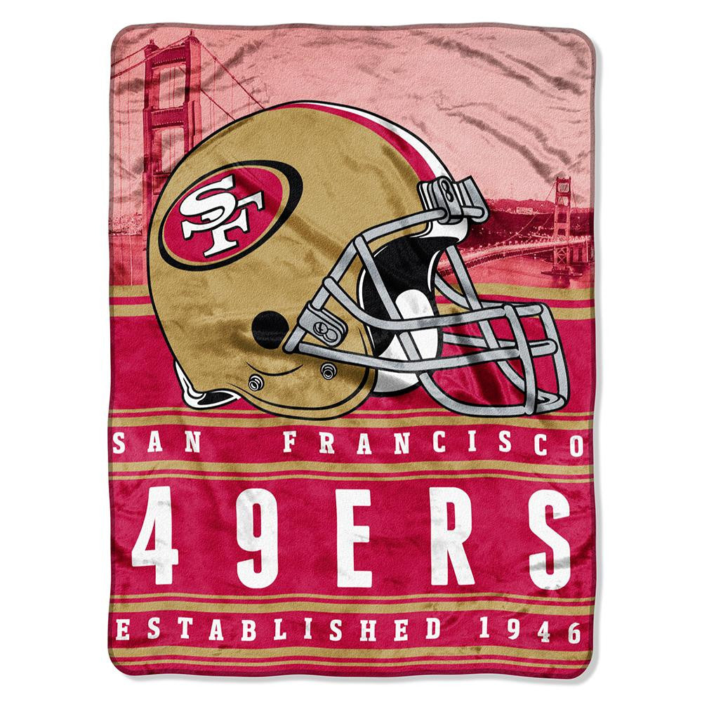 San Francisco 49ers NFL Silk Touch Throw (Stacked Series) (60inx80in)