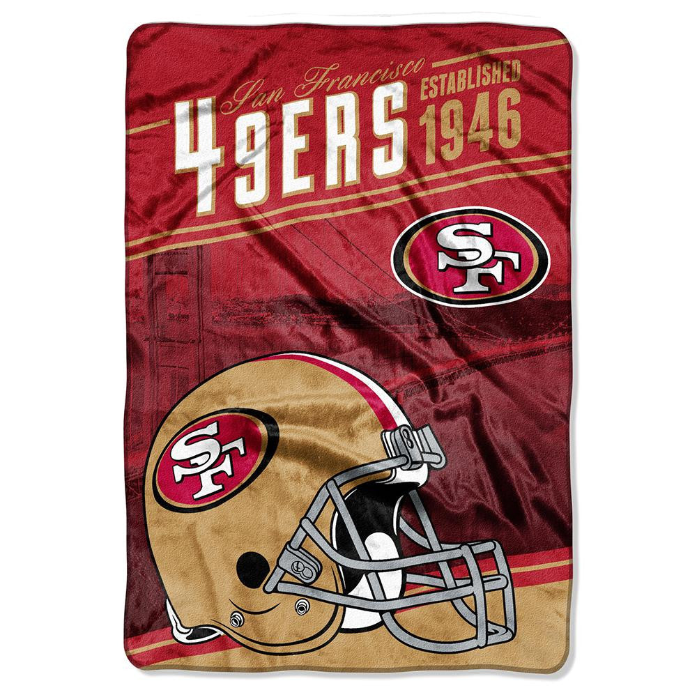 San Francisco 49ers NFL Stagger Oversized Micro Raschel (62in x 90in)