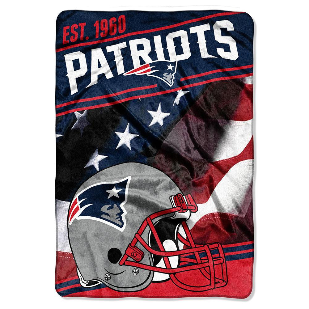 New England Patriots NFL Stagger Oversized Micro Raschel (62in x 90in) xyz