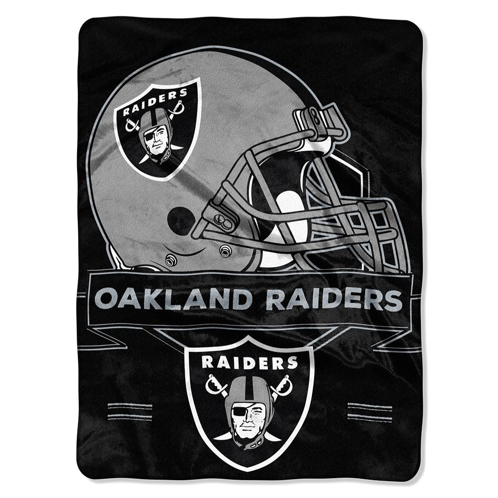 Oakland Raiders NFL Royal Plush Raschel (Prestige Series)