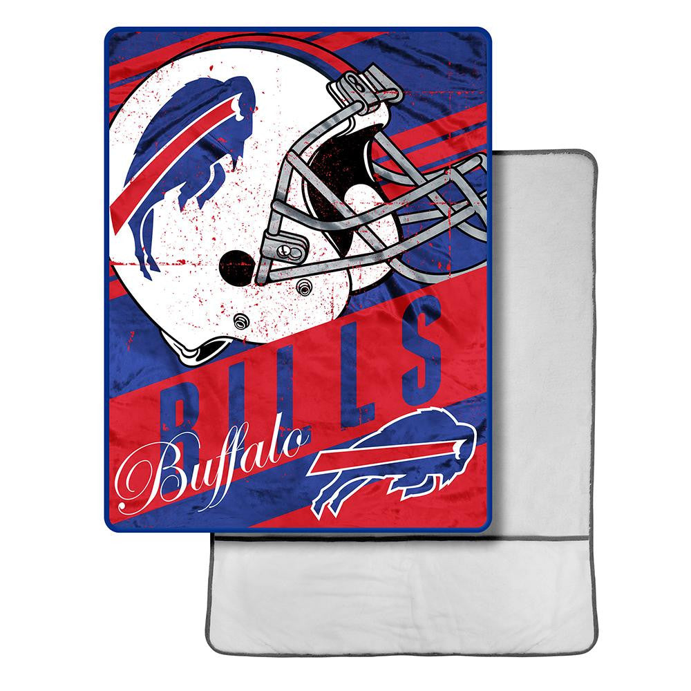 Buffalo Bills NFL Micro Sherpa Throw with Foot Pocket