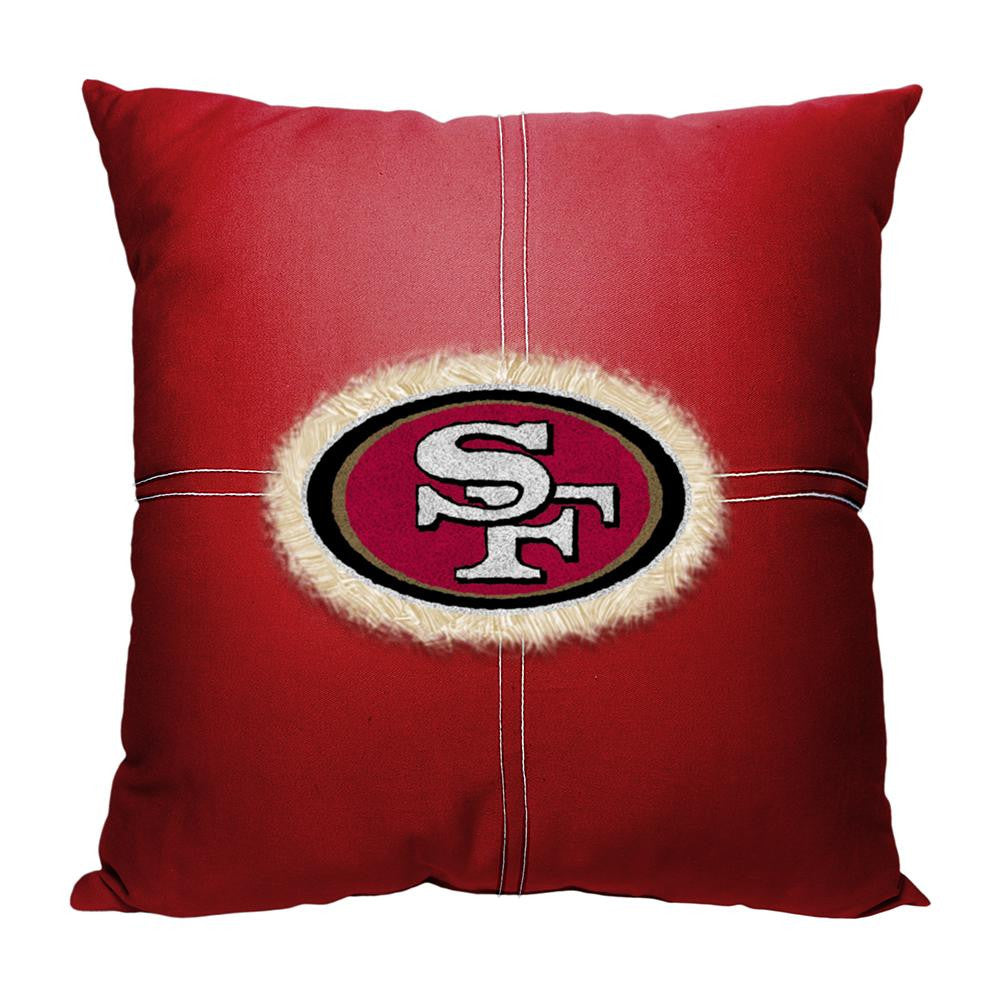 San Francisco 49ers NFL Team Letterman Pillow (18x18)