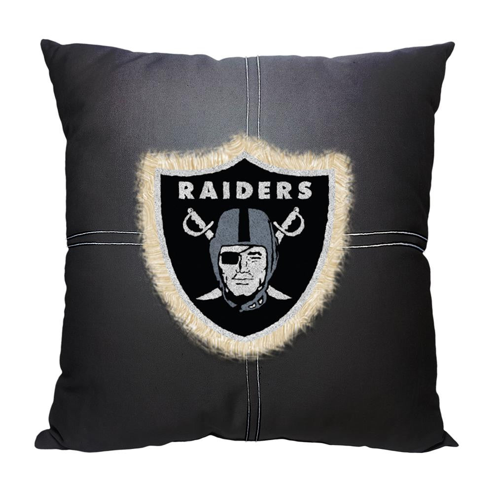Oakland Raiders NFL Team Letterman Pillow (18x18)