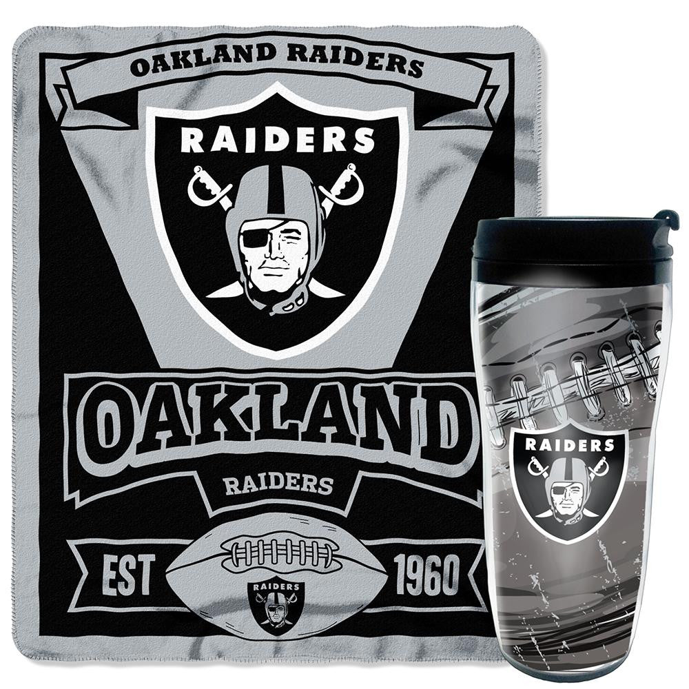Oakland Raiders NFL Mug 'N Snug Set