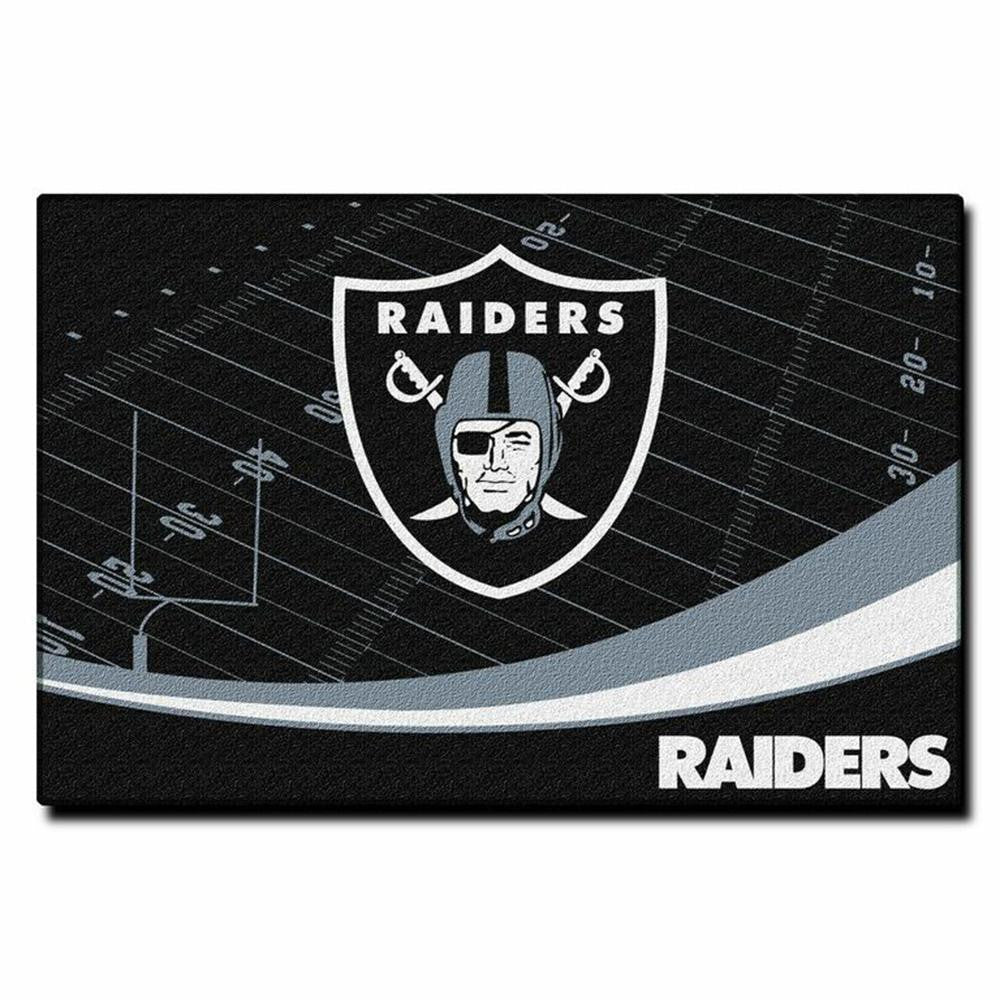 Oakland Raiders NFL Tufted Rug (Extra Point Series) (59x39)