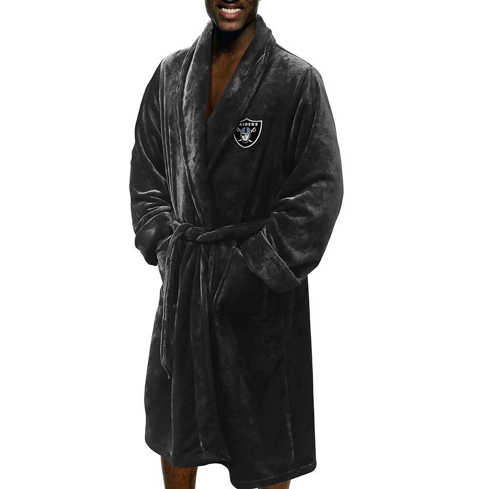 Oakland Raiders NFL Men's Silk Touch Bath Robe (L/XL) xyz