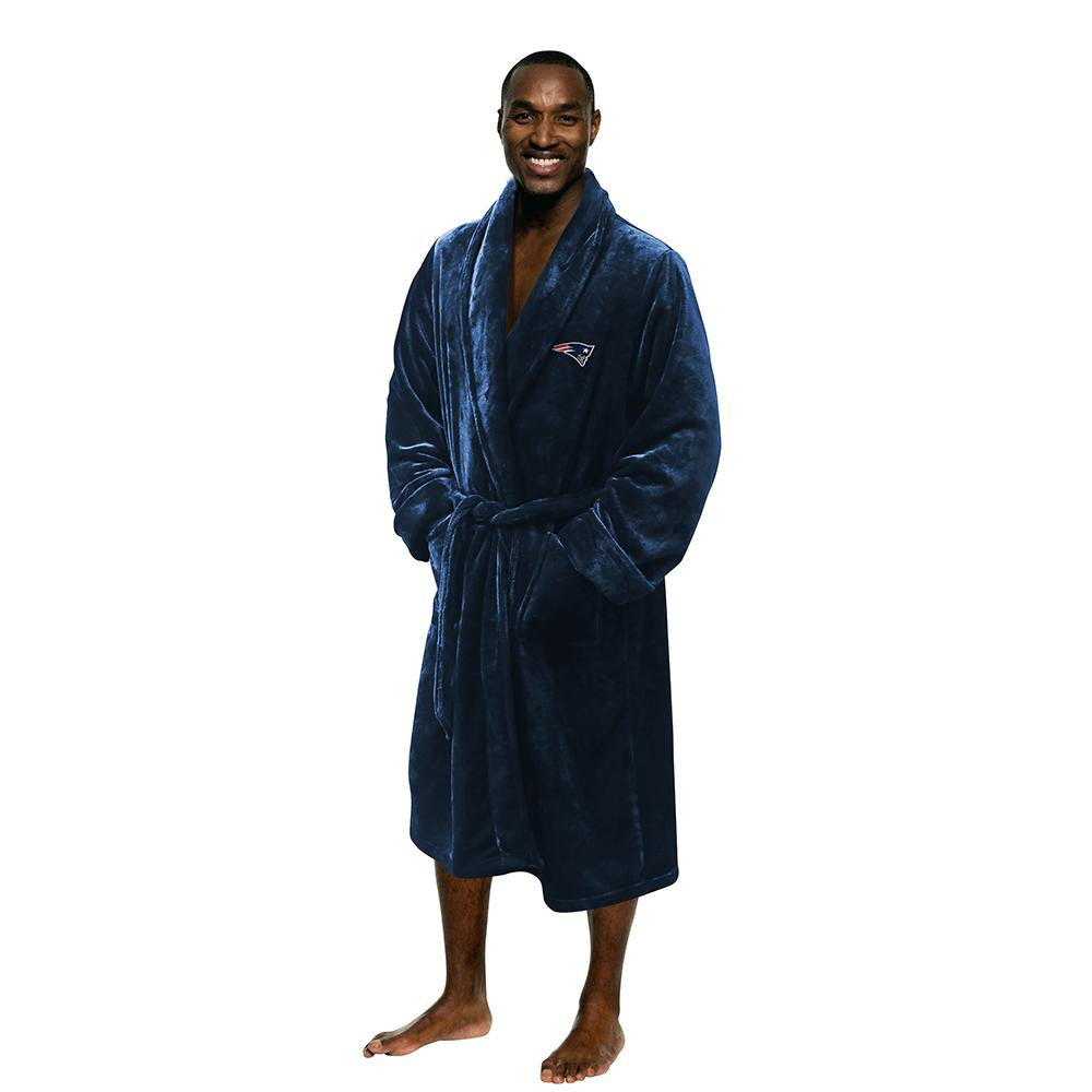 New England Patriots NFL Men's Silk Touch Bath Robe (L/XL)