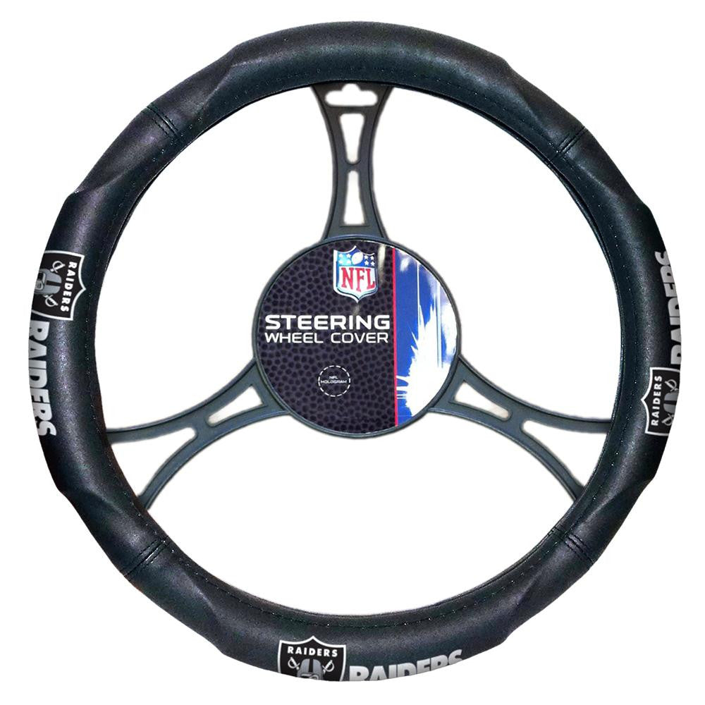 Oakland Raiders NFL Steering Wheel Cover (14.5 to 15.5)