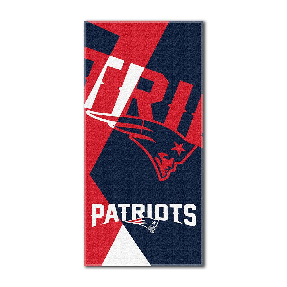 New England Patriots NFL ?Puzzle? Over-sized Beach Towel (34in x 72in)