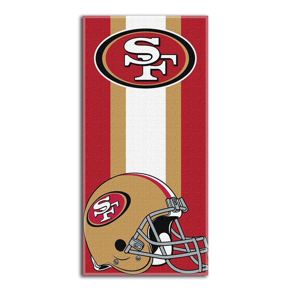 San Francisco 49ers NFL Zone Read Cotton Beach Towel (30in x 60in)