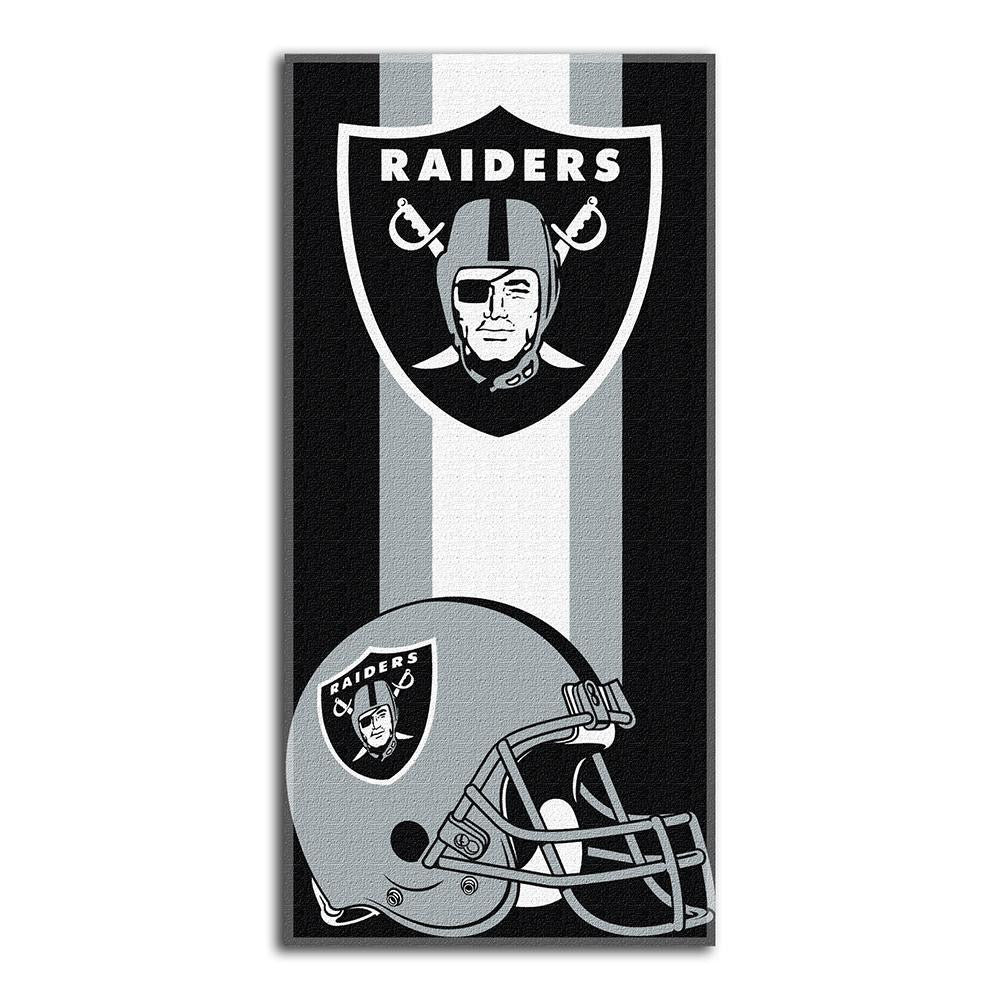 Oakland Raiders NFL Zone Read Cotton Beach Towel (30in x 60in)