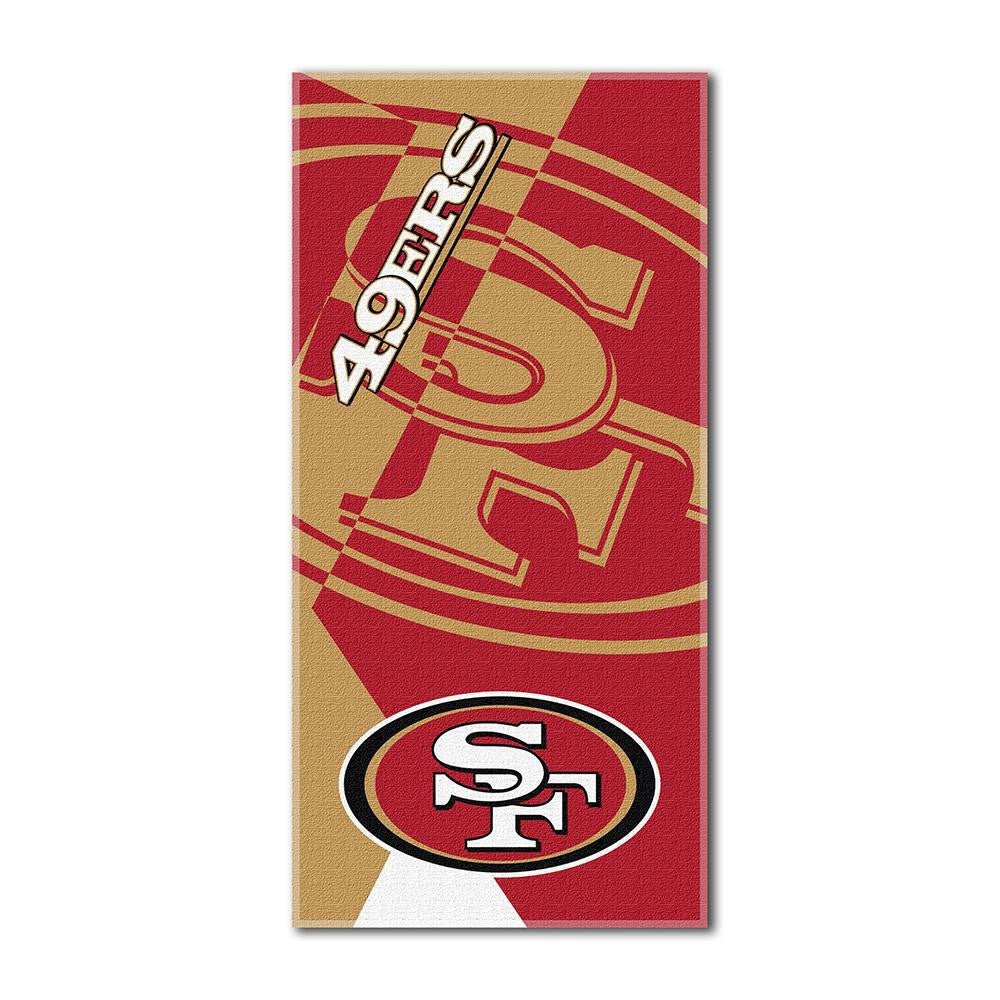 San Francisco 49ers NFL ?Puzzle? Over-sized Beach Towel (34in x 72in)