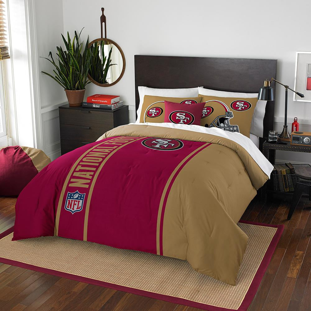 San Francisco 49ers NFL Full Comforter Set (Soft & Cozy) (76 x 86)