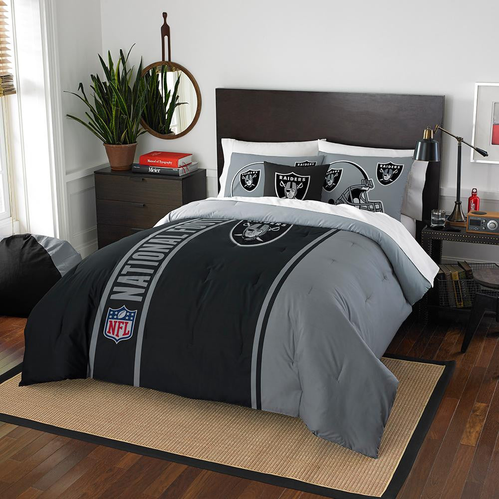Oakland Raiders NFL Full Comforter Set (Soft & Cozy) (76 x 86) xyz