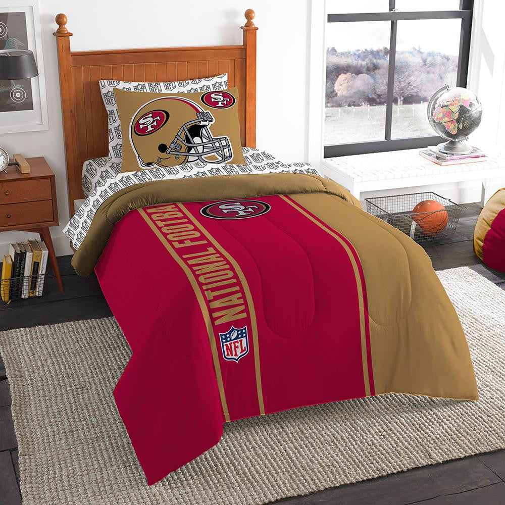 San Francisco 49ers NFL Twin Comforter Bed in a Bag (Soft & Cozy) (64in x 86in)