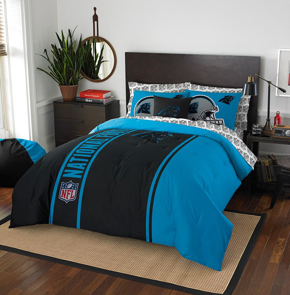 Carolina Panthers NFL Full Comforter Bed in a Bag (Soft & Cozy) (76in x 86in)