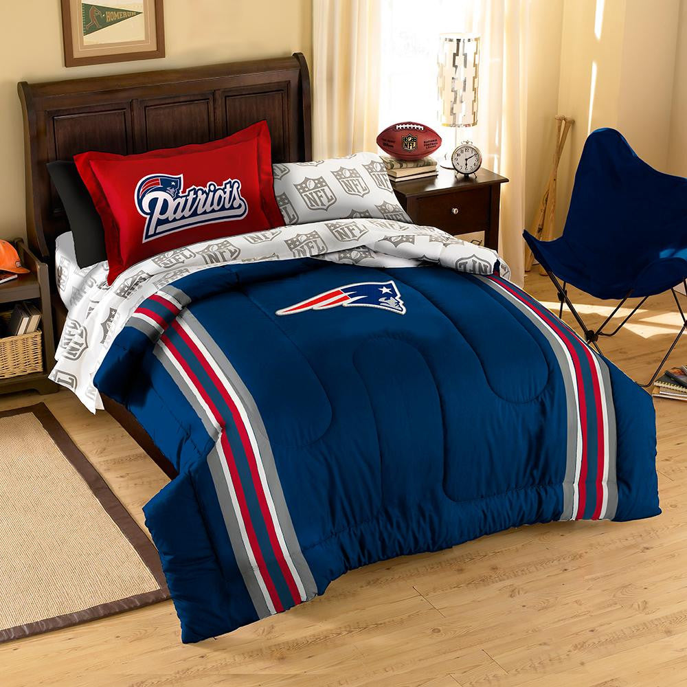 New England Patriots NFL Bed in a Bag (Contrast Series)(Twin) xyz