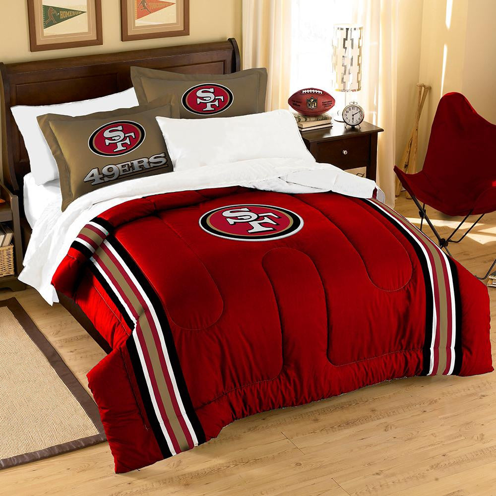 San Francisco 49ers NFL Embroidered Comforter Twin/Full (Contrast Series) (64 x 86) xyz