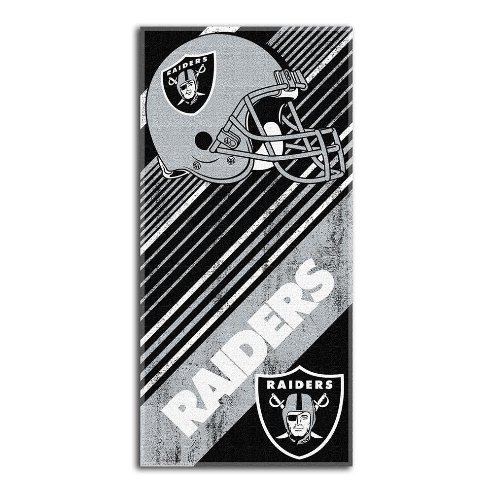 Oakland Raiders NFL Fiber Reactive Beach Towel (Diagonal Series) (28in x 58in)