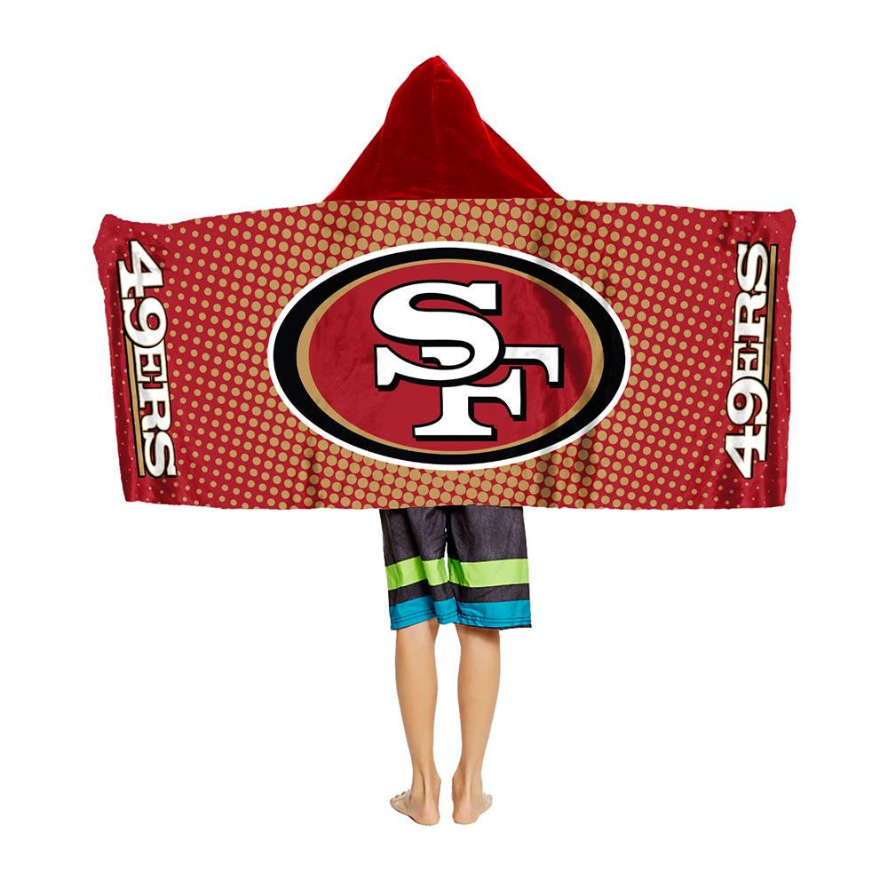 San Francisco 49ers NFL Youth Hooded Beach Towel