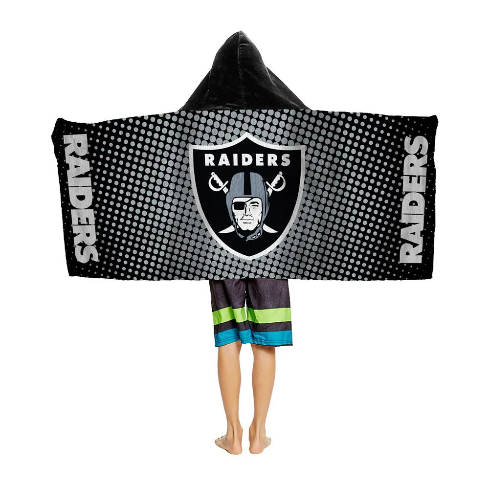Oakland Raiders NFL Youth Hooded Beach Towel