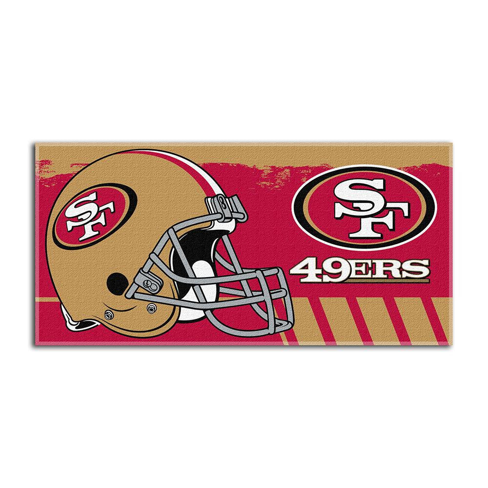 San Francisco 49ers NFL Fiber Reactive Beach Towel (Gameplan Series) (28in x 58in)