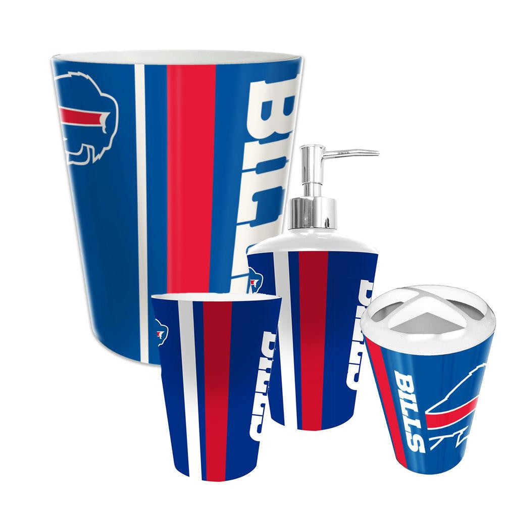 Buffalo Bills NFL Complete Bathroom Accessories 4pc Set
