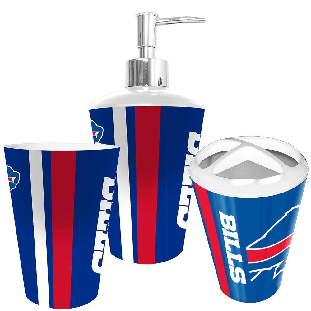 Buffalo Bills NFL Bath Tumbler, Toothbrush Holder & Soap Pump (3pc Set) xyz