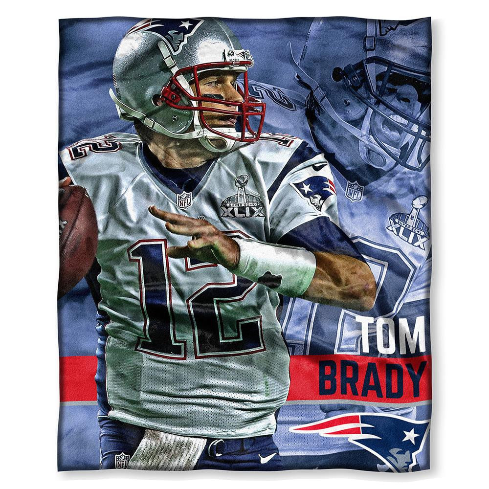 New England Patriots NFL Tom Brady Silk Touch Throw (50in x 60in) xyz