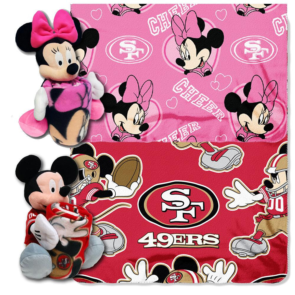 San Francisco 49ers NFL Mickey and Minnie Mouse Throw Combo