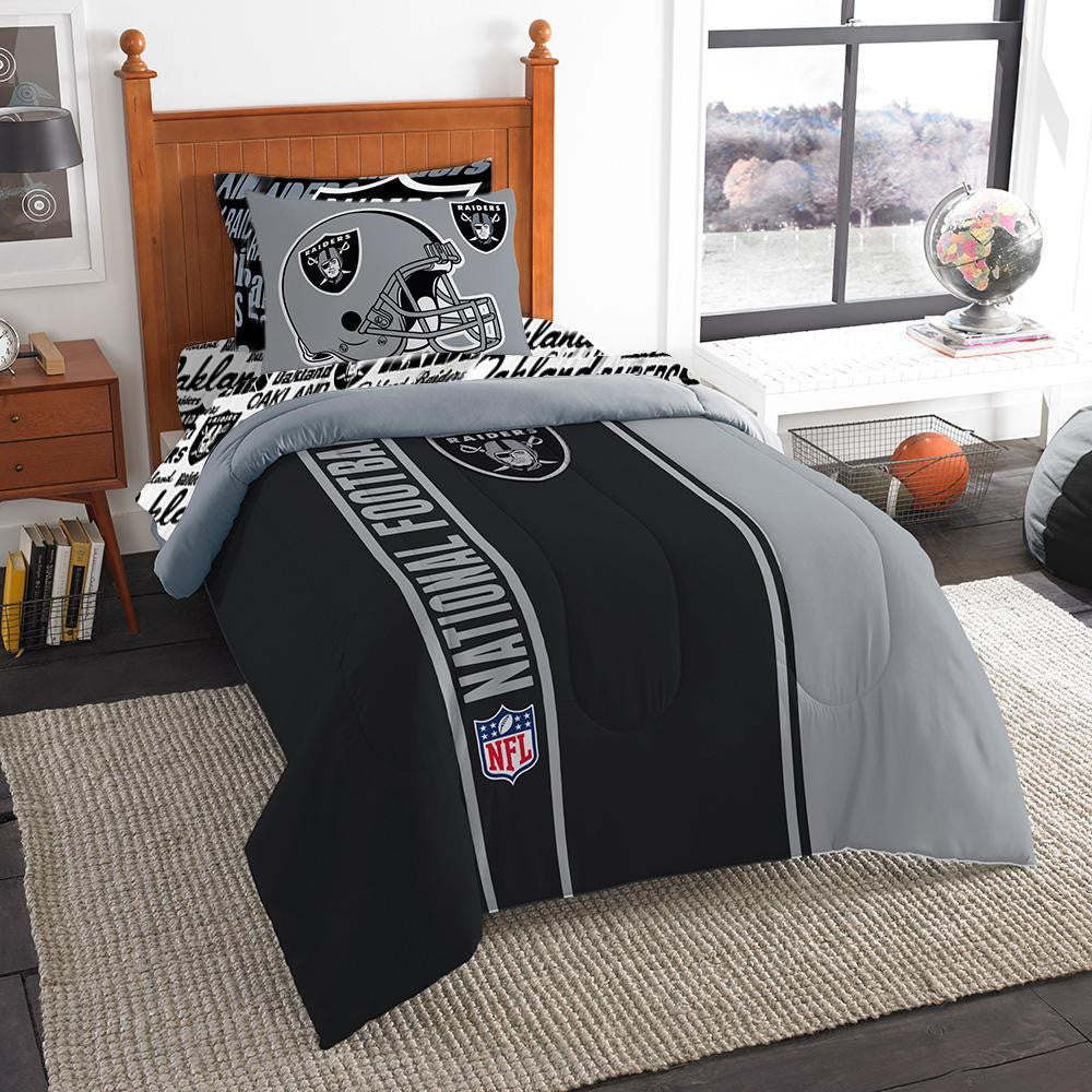 Oakland Raiders NFL Team Bed in a Bag (Twin)