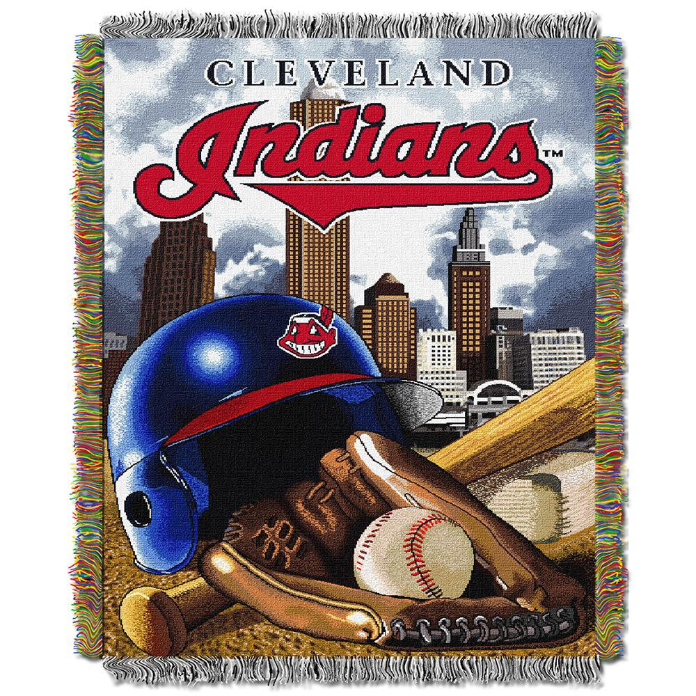Cleveland Indians MLB Woven Tapestry Throw (Home Field Advantage) (48x60)