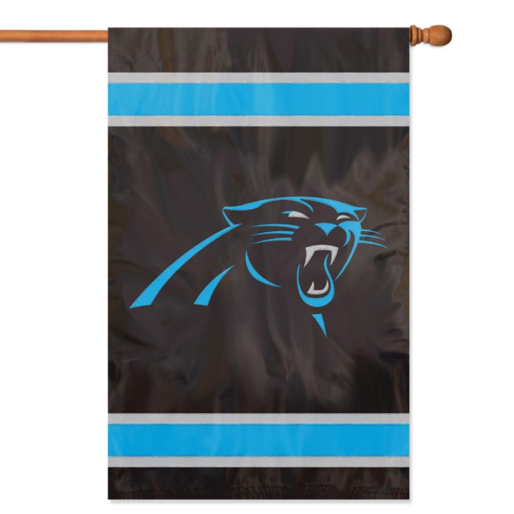 Carolina Panthers NFL Applique Banner Flag (44x28)