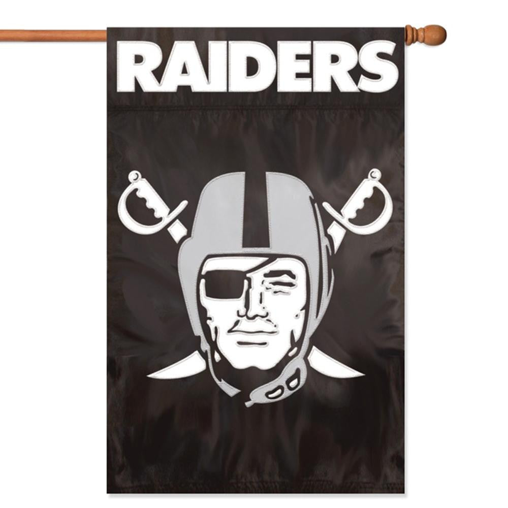 Oakland Raiders NFL Applique Banner Flag (44x28)
