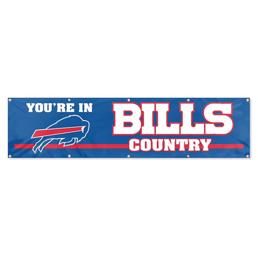 Buffalo Bills NFL Applique & Embroidered Party Banner (96x24)