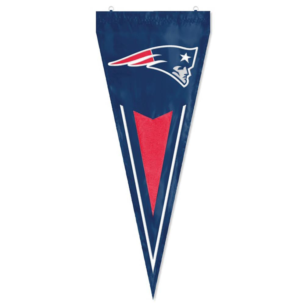 New England Patriots NFL Applique & Embroidered Yard Pennant (34x14)