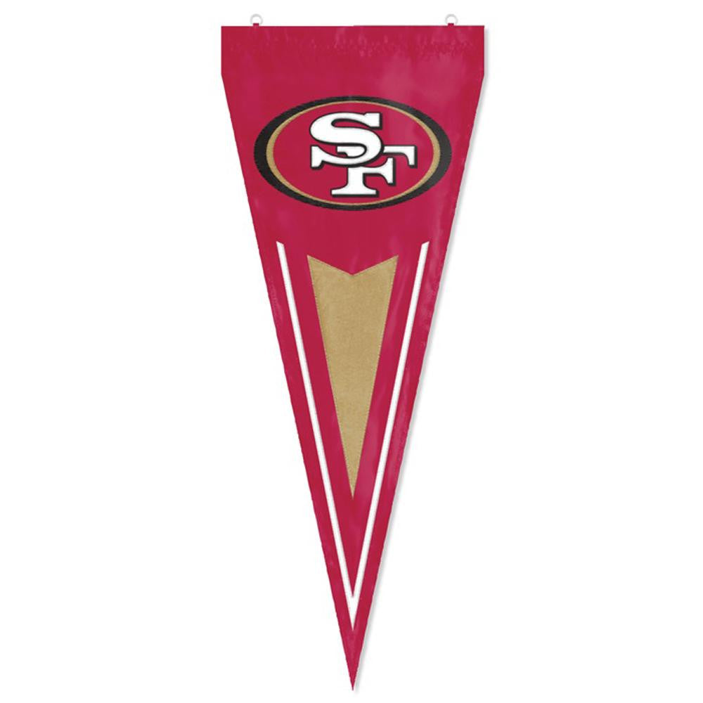San Francisco 49ers NFL Applique & Embroidered Yard Pennant (34x14)