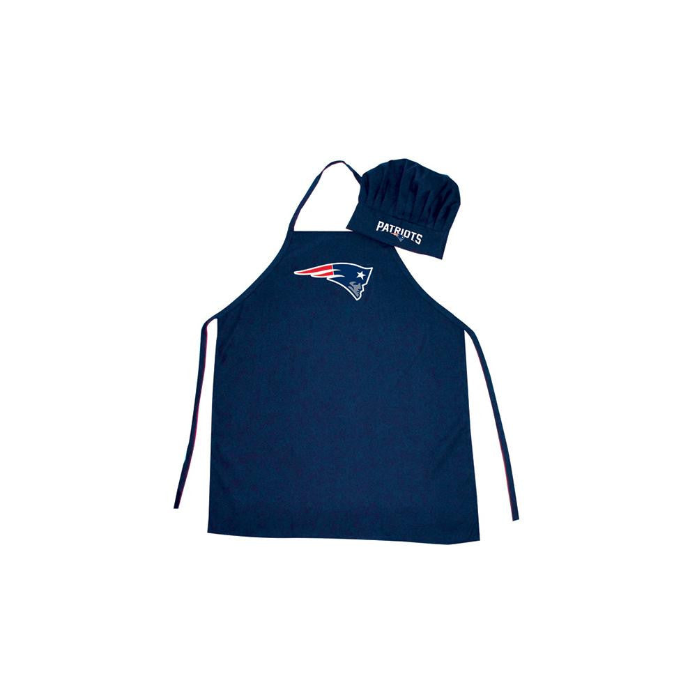 New England Patriots NFL Barbeque Apron and Chef's Hat xyz