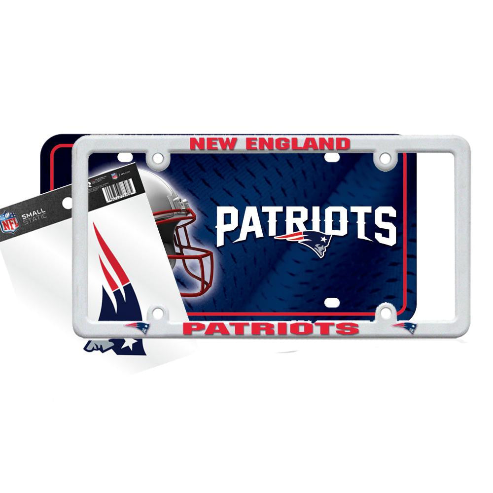 New England Patriots NFL 3 Piece Auto Value Pack