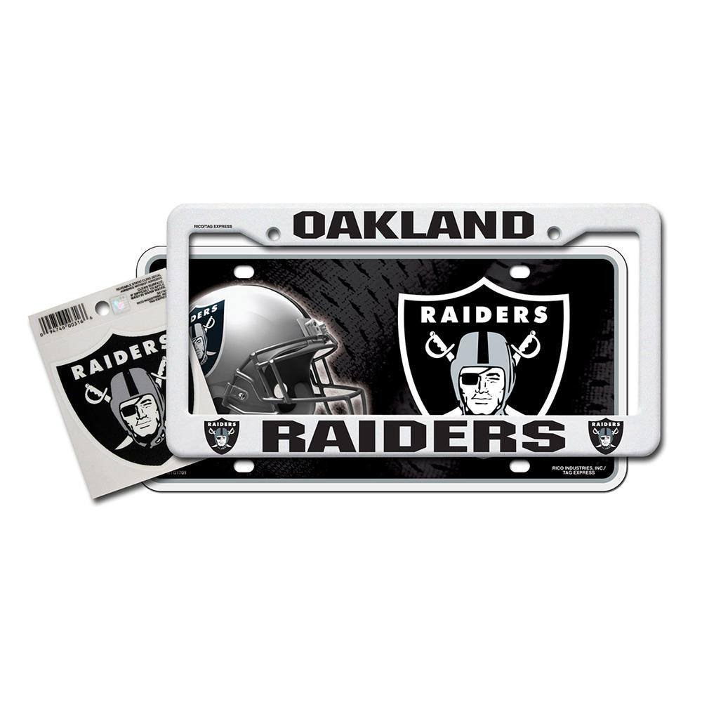 Oakland Raiders NFL 3 Piece Auto Value Pack