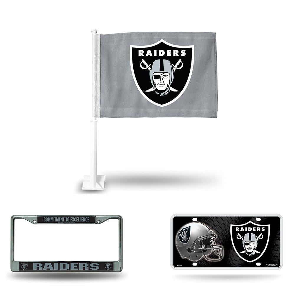 Oakland Raiders NFL 3 Piece Auto Fan Pack