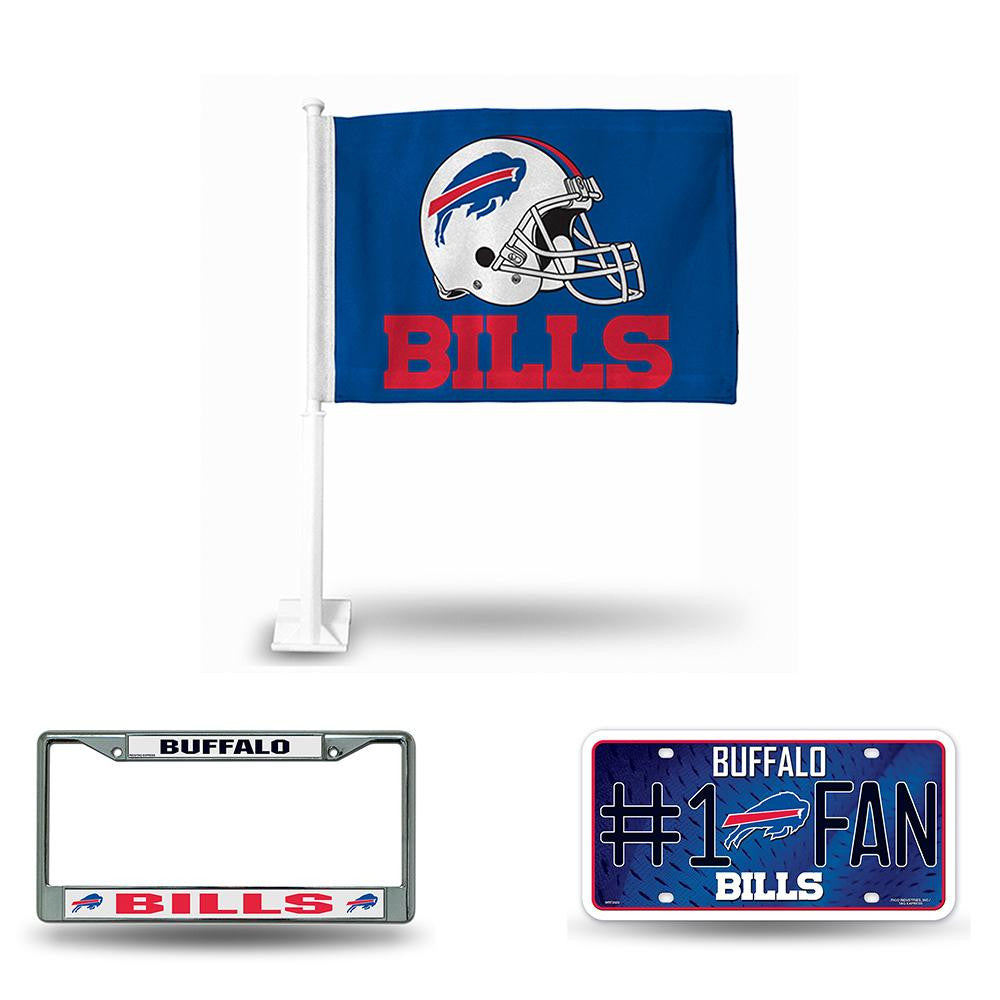 Buffalo Bills NFL 3 Piece Auto Fan Pack