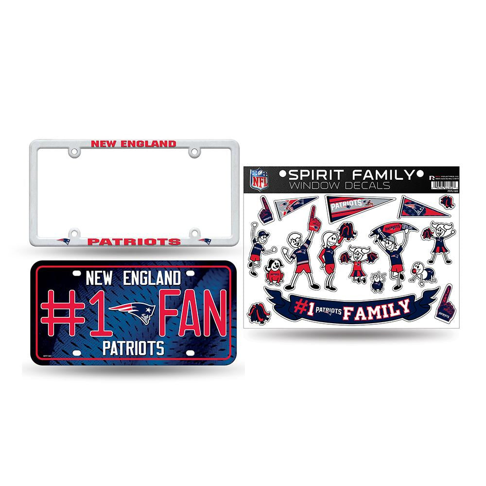 New England Patriots NFL 3 Piece Auto Family Pack