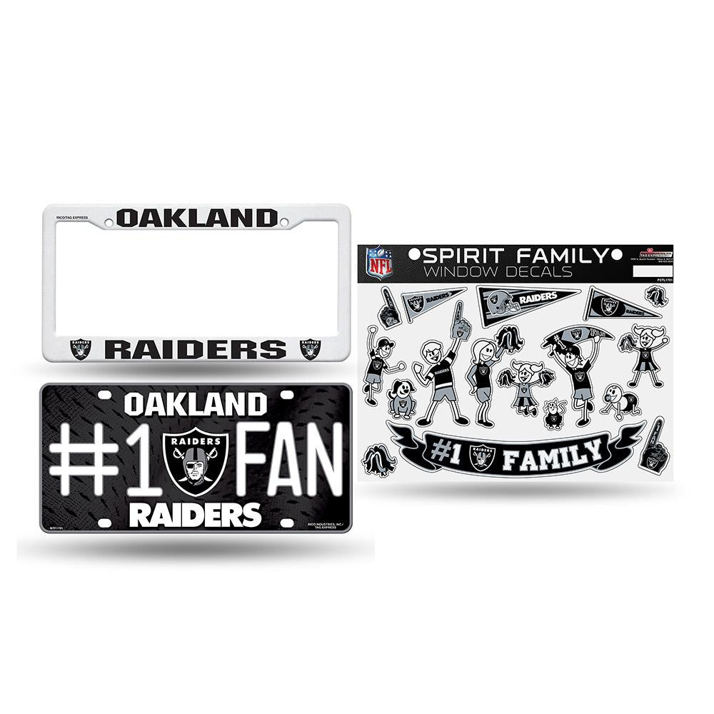 Oakland Raiders NFL 3 Piece Auto Family Pack