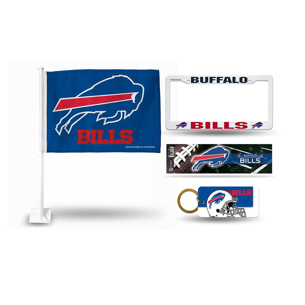 Buffalo Bills NFL 4 Piece Car Kit
